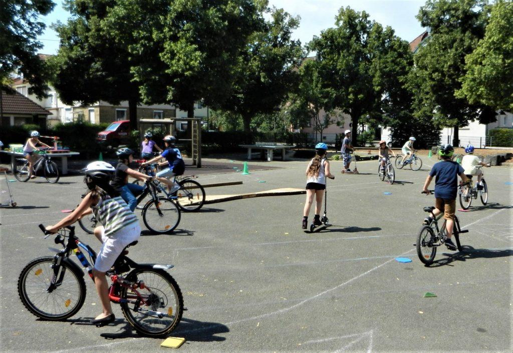 Fahrradparcours für Schulen